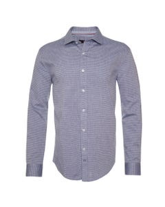 Camisa Jacquard Cuello Italiano